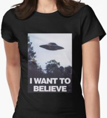 The X-Files I Want To Believe Womens Fitted T-Shirt