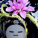 Emoji Vase - Last Of The Dahlias by Michael May
