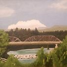 Russian River Bridge, Healdsburg by Cyndi Gonzalez