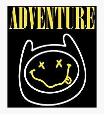 Adventure Time - Nirvana Mashup Photographic Print