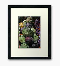 Cabbages Framed Print