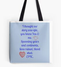 Our Love Story  Tote Bag