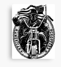 Motorcycle Chopper Stickers Canvas Print
