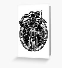 Motorcycle Chopper Stickers Greeting Card
