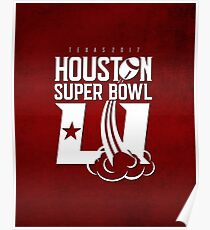 Super Bowl LI 2017 rocket ball Poster