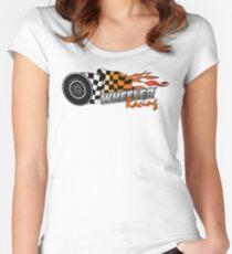 Upper Middle Bogan - Wheeler Racing 3 Women's Fitted Scoop T-Shirt