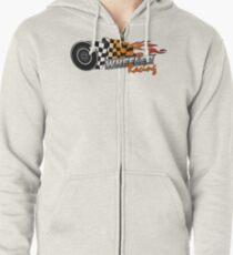 Upper Middle Bogan - Wheeler Racing 3 Zipped Hoodie