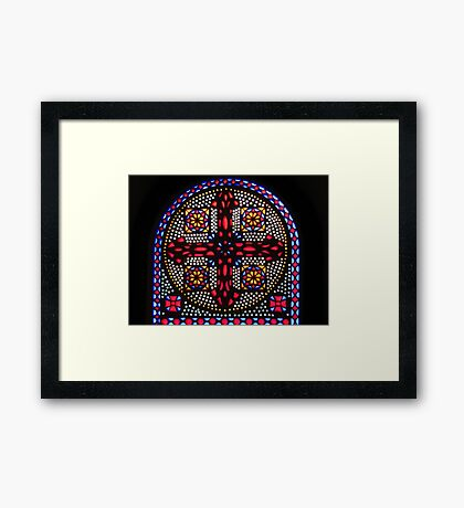Stained Glass Window - Coptic Church Framed Print