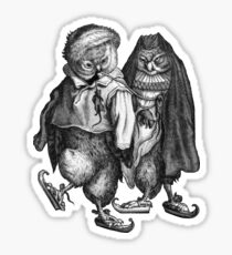 A Pair of Skating Owls  Sticker