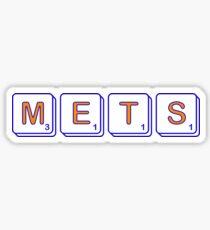 Mets Scrabble  Sticker