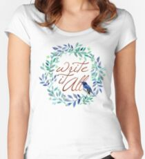 Write It All!  Women's Fitted Scoop T-Shirt
