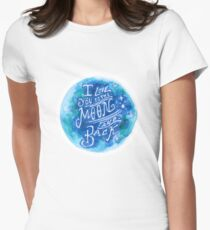 To the Moon and Back Womens Fitted T-Shirt