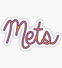 Mets - Script  Sticker