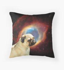 Interstellar Pug Throw Pillow