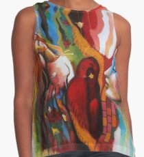 Entwined hues  Contrast Tank