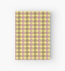 Iced Pink Donut and Sugar Donut on Lemon Hand Painted Watercolor Hardcover Journal