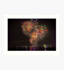 Boston Fireworks - Flying Feathers Art Print