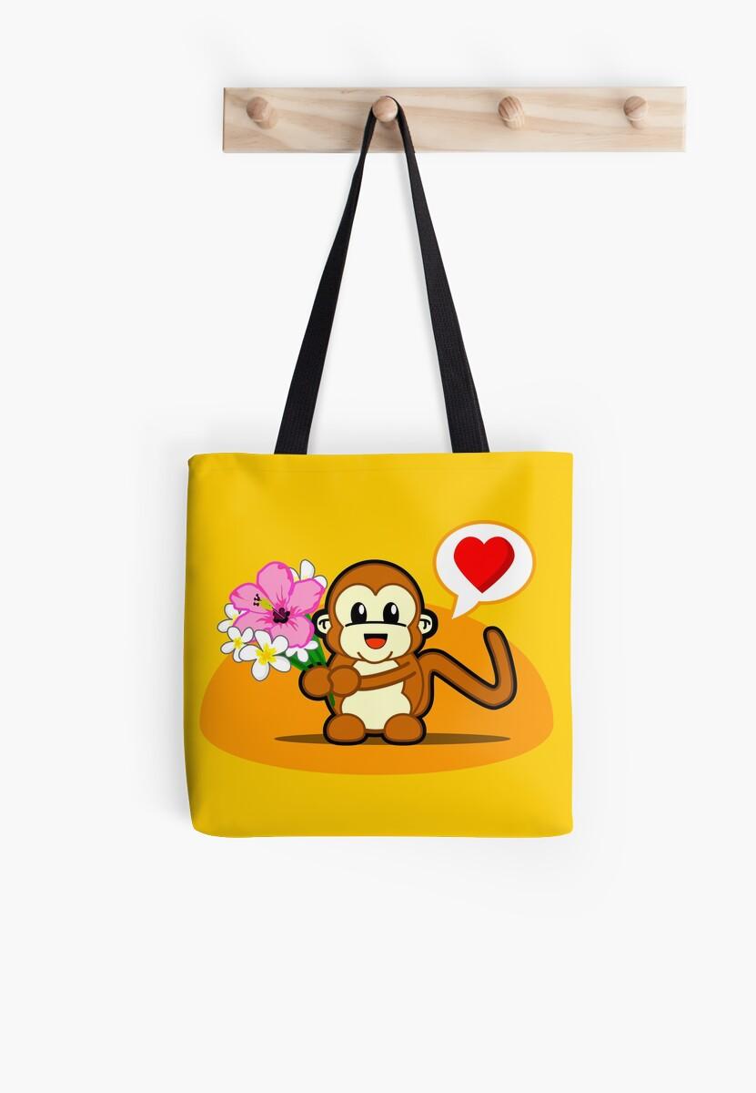 Flower Monkey Love by pencilfury