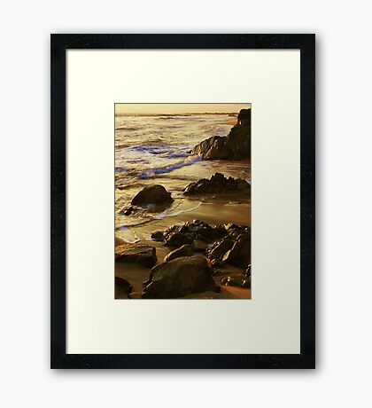 On Golden Sands Framed Print