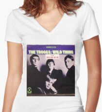 The Troggs Wild Thing 60's Garage Rock lp! Women's Fitted V-Neck T-Shirt