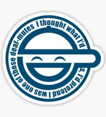 GITS - Laughing Man Sticker Sticker