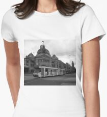 Flinders Street, Melbourne Women's Fitted T-Shirt