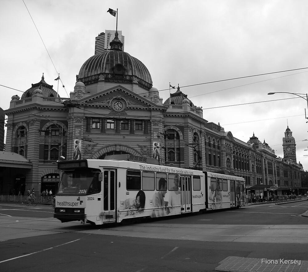 Flinders Street, Melbourne by Fiona Kersey