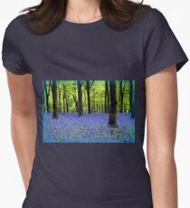 Haze Of Blue - Bluebell Wood Dorset Womens Fitted T-Shirt