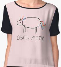 Death Metal Unicorn (Crayon) Chiffon Top