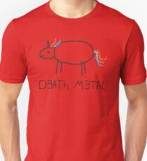 Death Metal Unicorn (Crayon) Unisex T-Shirt