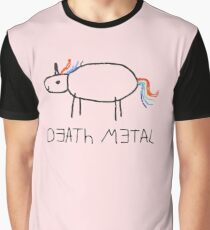 Death Metal Einhorn (Wachsmalstift) Grafik T-Shirt