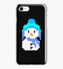 Retro 8 bit snowman iPhone Case/Skin