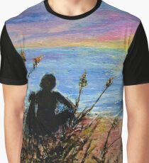 Sweet Serenity - Sunset Graphic T-Shirt