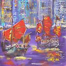 Red Sails at Night by christine purtle