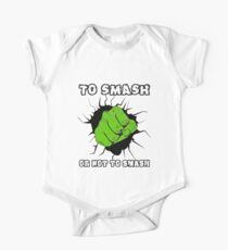 To Smash Or Not To Smash - Green Punch Character Green Beast Design One Piece - Short Sleeve