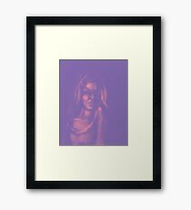 Digital painting of mysterious girl Framed Print