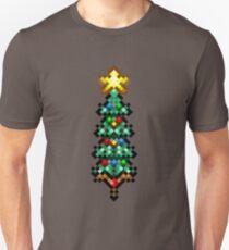 Retro 8 bit christmas tree Unisex T-Shirt