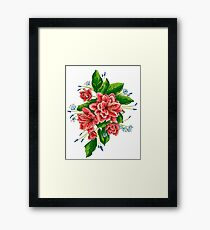red bunch of flowers Framed Print