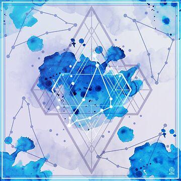 Constellation Set - December Capricorn / Blue Topaz by rosescreation