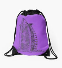 Dubai Drawing: Drawstring Bags | Redbubble