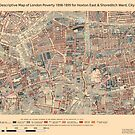Booth's Map of London Poverty for Hoxton East & Shoreditch ward, City of London by ianturton