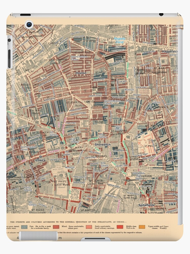 "Shoreditch London Uk: ""Booth's Map Of London Poverty For Hoxton East"
