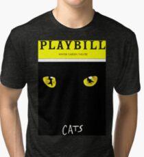 PLAYBILL GERSHWIN THEATRE WICKED CAT Tri-blend T-Shirt