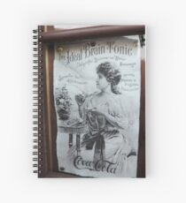 """The Ideal Brain Tonic"" - Vintage Coca-Cola Advertisement Spiral Notebook"