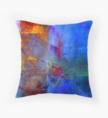 Intersection of Colors Throw Pillow Throw Pillow