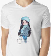 Kekita invierno Men's V-Neck T-Shirt