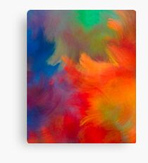Colorful Brush Strokes Throw Pillow Canvas Print