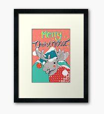 Merry ChristMOOSE Christmas gifts Framed Print