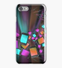 Telecommunications abstract. iPhone Case/Skin