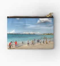 The Beach at Arawak Cay in Nassau, The Bahamas Studio Pouch